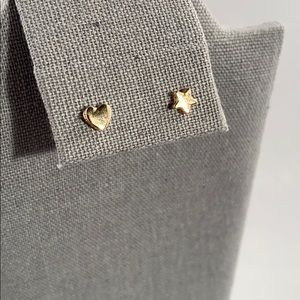 Jewelry - Heart and star stud earrings
